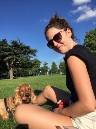Emilie in London back image